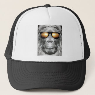 Bigfoot In Shades Trucker Hat
