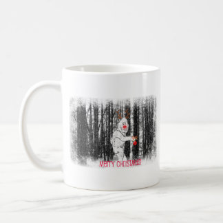 Bigfoot in the Forest Holiday Mug