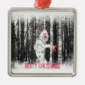Bigfoot in the Forest Holiday Ornament