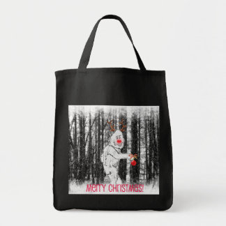 Bigfoot in the Forest Holiday Tote Bag