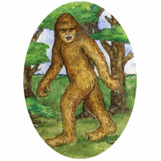 Bigfoot in the Woods Ornament Acrylic Cut Outs