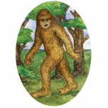 Bigfoot in the Woods Ornament Photo Sculpture Ornament