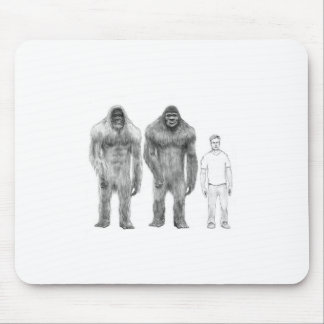 Bigfoot is Big Compared to Man Mouse Pad