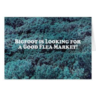 Bigfoot is Looking For a Good Flea Market - Basic Card