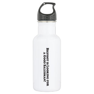 Bigfoot is Looking For a Good Salesman - Basic Stainless Steel Water Bottle
