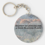 Bigfoot is Looking For Good Seafood Place - Basic Keychain