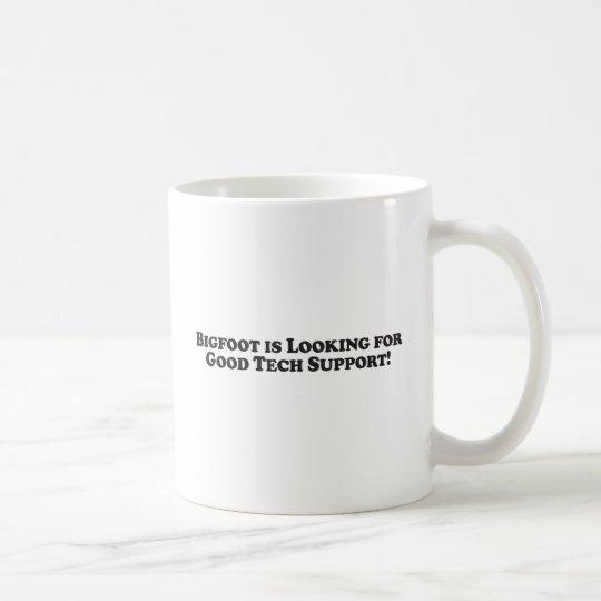 Bigfoot is Looking for Good Tech Support - Basic Coffee Mug