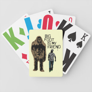 Bigfoot Is My Friend Bicycle Playing Cards