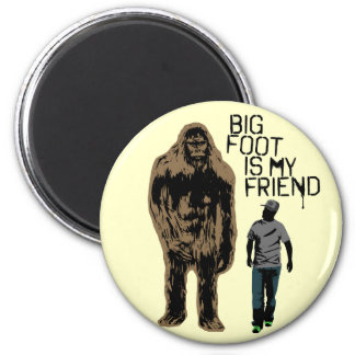 Bigfoot Is My Friend Fridge Magnets