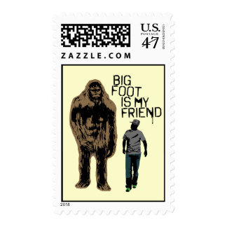 Bigfoot Is My Friend Postage