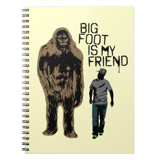 Bigfoot Is My Friend Spiral Notebook