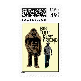 Bigfoot Is My Friend Stamp