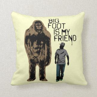 Bigfoot Is My Friend Throw Pillow