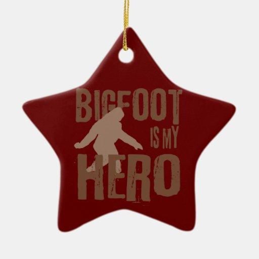 Bigfoot is my Hero Christmas Tree Ornaments