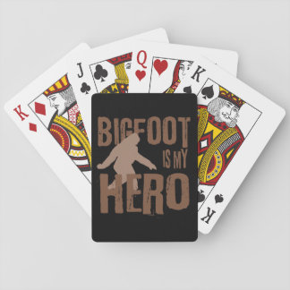 Bigfoot is my Hero Playing Cards