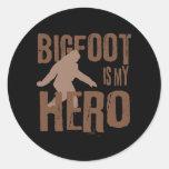 Bigfoot is my Hero Round Stickers