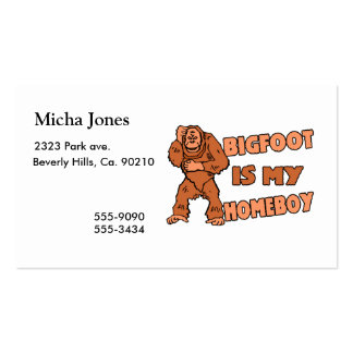Bigfoot Is My Homeboy Double-Sided Standard Business Cards (Pack Of 100)