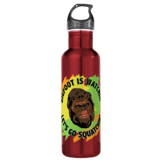 Bigfoot Is Watchin' Let's Go Squatchin' Stainless Steel Water Bottle