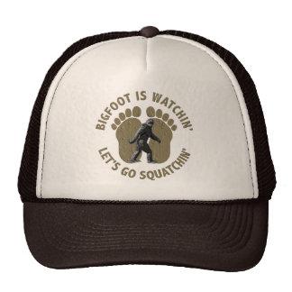 Bigfoot Is Watchin' Let's Go Squatchin' Trucker Hat