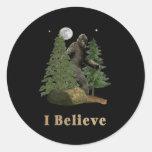 Bigfoot items classic round sticker