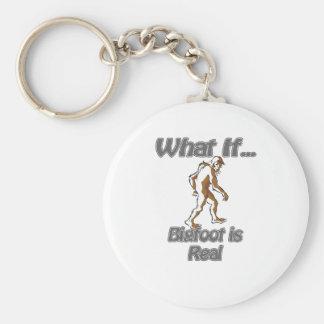 Bigfoot Basic Round Button Keychain