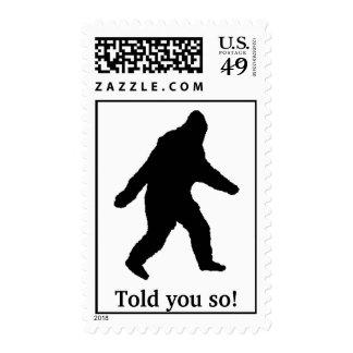 Bigfoot le dijo tan sellos