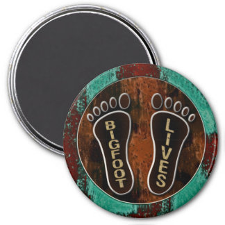 Bigfoot Lives 3 Inch Round Magnet
