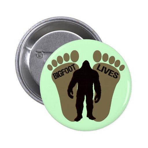 Bigfoot Lives Button