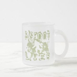 Bigfoot Lives Frosted Glass Coffee Mug