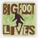 Bigfoot Lives Square Stickers