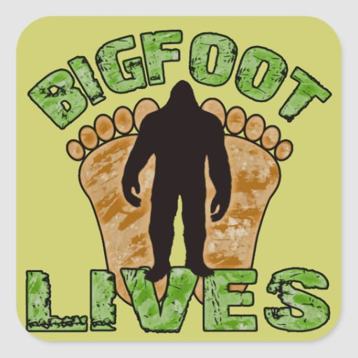 Bigfoot Lives Sticker