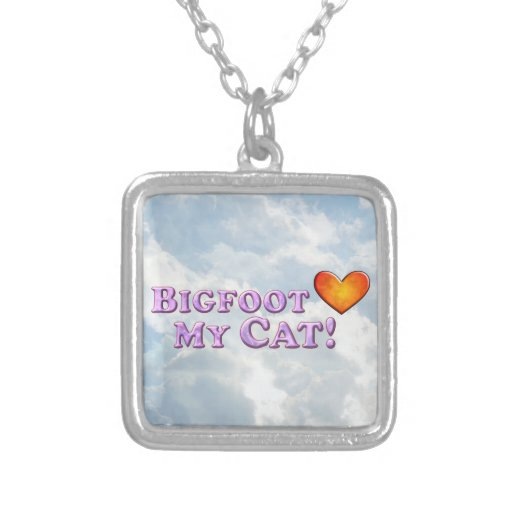 Bigfoot Loves My Cat - Basic Custom Necklace