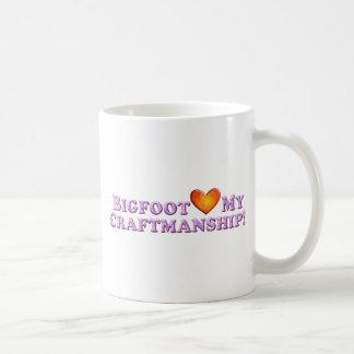 Bigfoot Loves My Craftsmanship - Basic Mugs