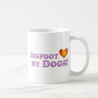 Bigfoot Loves My Dogs - Basic Coffee Mug