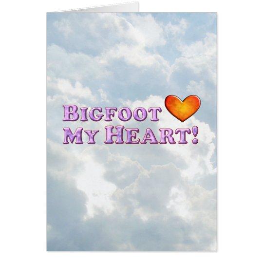 Bigfoot Loves My Heart - Basic Card
