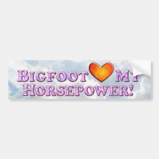 Bigfoot Loves My Horsepower - Bumper Sticker