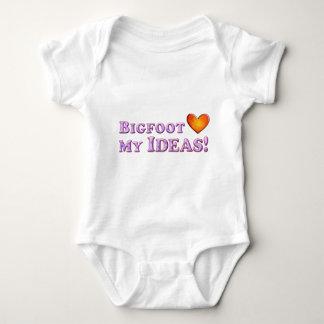 Bigfoot Loves My Ideas - Basic Baby Bodysuit