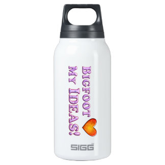 Bigfoot Loves My Ideas - Basic 10 Oz Insulated SIGG Thermos Water Bottle