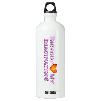 Bigfoot Loves My Imagination - Basic Aluminum Water Bottle