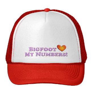 Bigfoot Loves My Numbers - Basic Trucker Hat