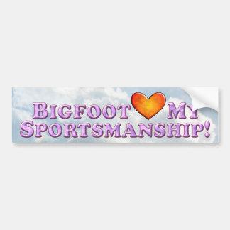 Bigfoot Loves My Sportsmanship - Basic Bumper Sticker