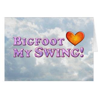 Bigfoot Loves My Swing - Basic Card