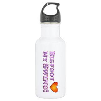 Bigfoot Loves My Swing - Basic 18oz Water Bottle