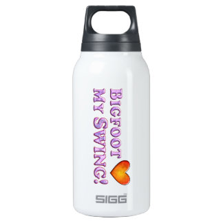 Bigfoot Loves My Swing - Basic 10 Oz Insulated SIGG Thermos Water Bottle