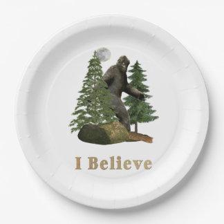 Bigfoot merchandise paper plate