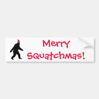 Bigfoot Merry Squatchmas! Bumper Sticker