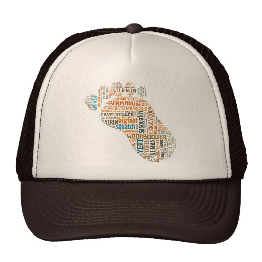Bigfoot Names Foot Trucker Hat