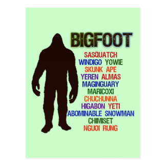 Bigfoot Names Postcards