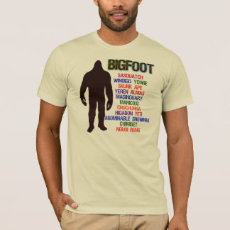 Bigfoot Names T-Shirt
