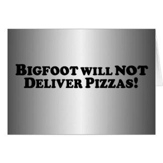 Bigfoot no entregará las pizzas - básicas tarjeton